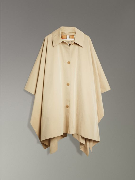 Tropical Gabardine Asymmetric Cape in Oatmeal - Women | Burberry United States - cell image 3