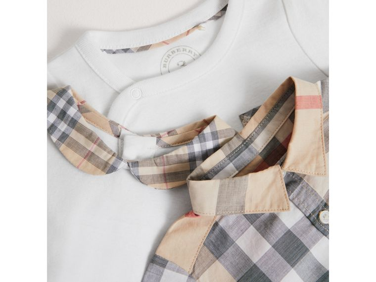 Cotton Six-piece Baby Gift Set in White - Children | Burberry United States - cell image 1