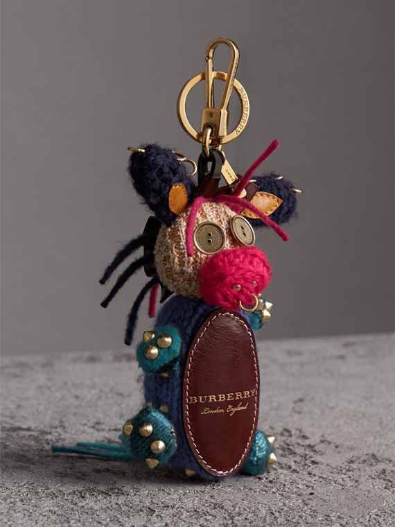 Mabel The Donkey Wool Charm in Navy Multicolour