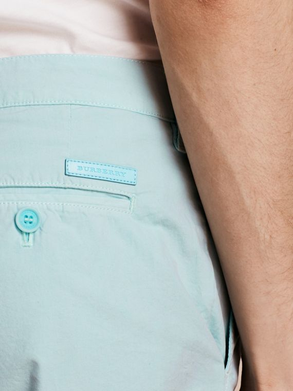 Pearl blue Cotton Poplin Chino Shorts Pearl Blue - cell image 3