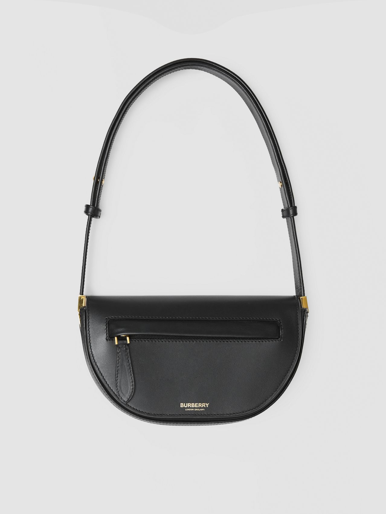 Mini Leather Olympia Bag in Black