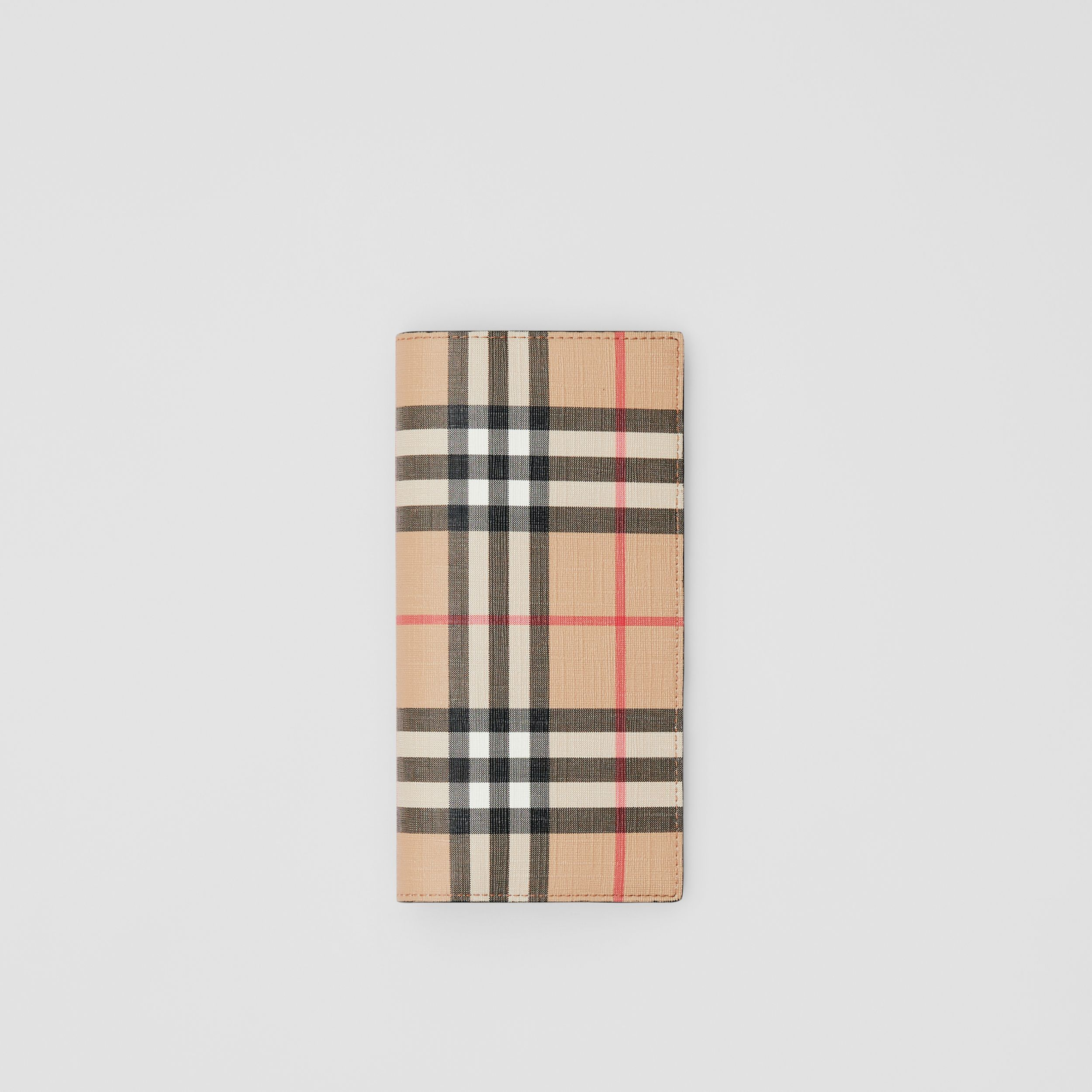 Vintage Check E-canvas Continental Wallet in Archive Beige - Men | Burberry - 1