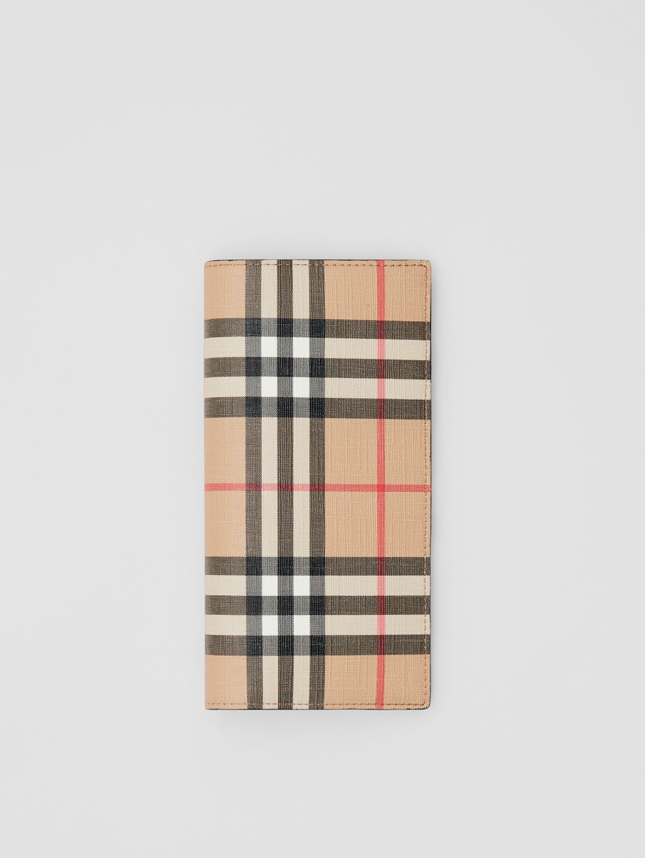Vintage Check E-canvas Continental Wallet (Archive Beige)