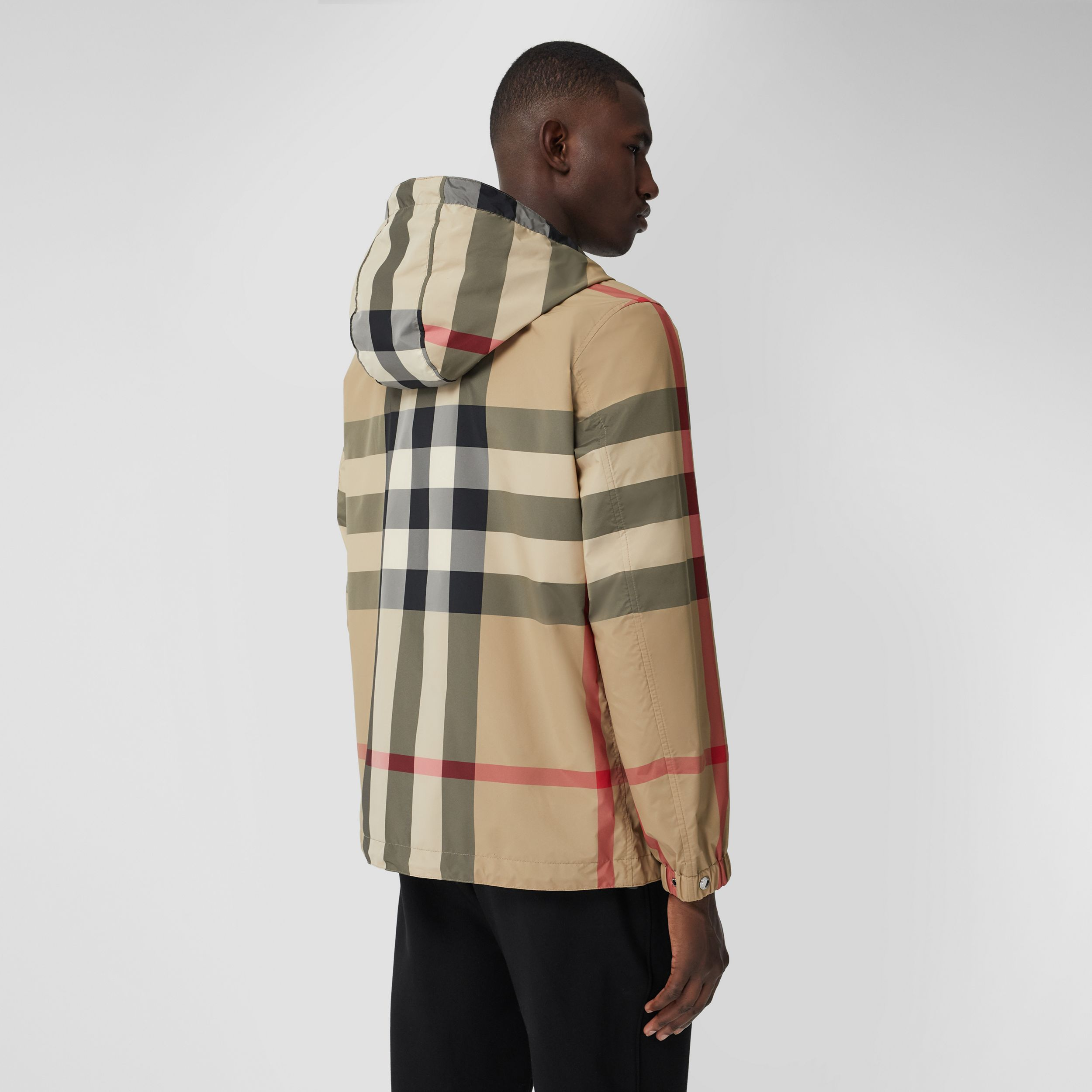 Reversible Check and ECONYL® Jacket in Archive Beige - Men | Burberry - 3