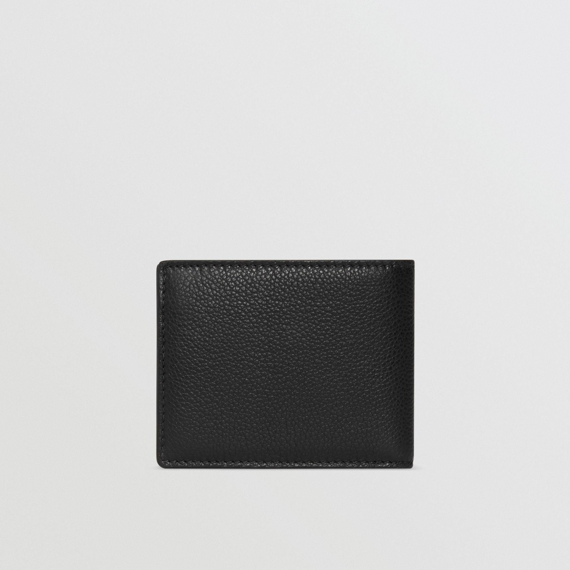 Grainy Leather Bifold Wallet in Black - Men | Burberry Australia - gallery image 5