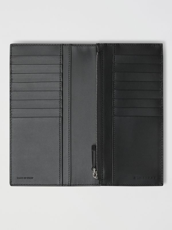 Embossed Crest Leather Continental Wallet in Black - Men | Burberry - cell image 3