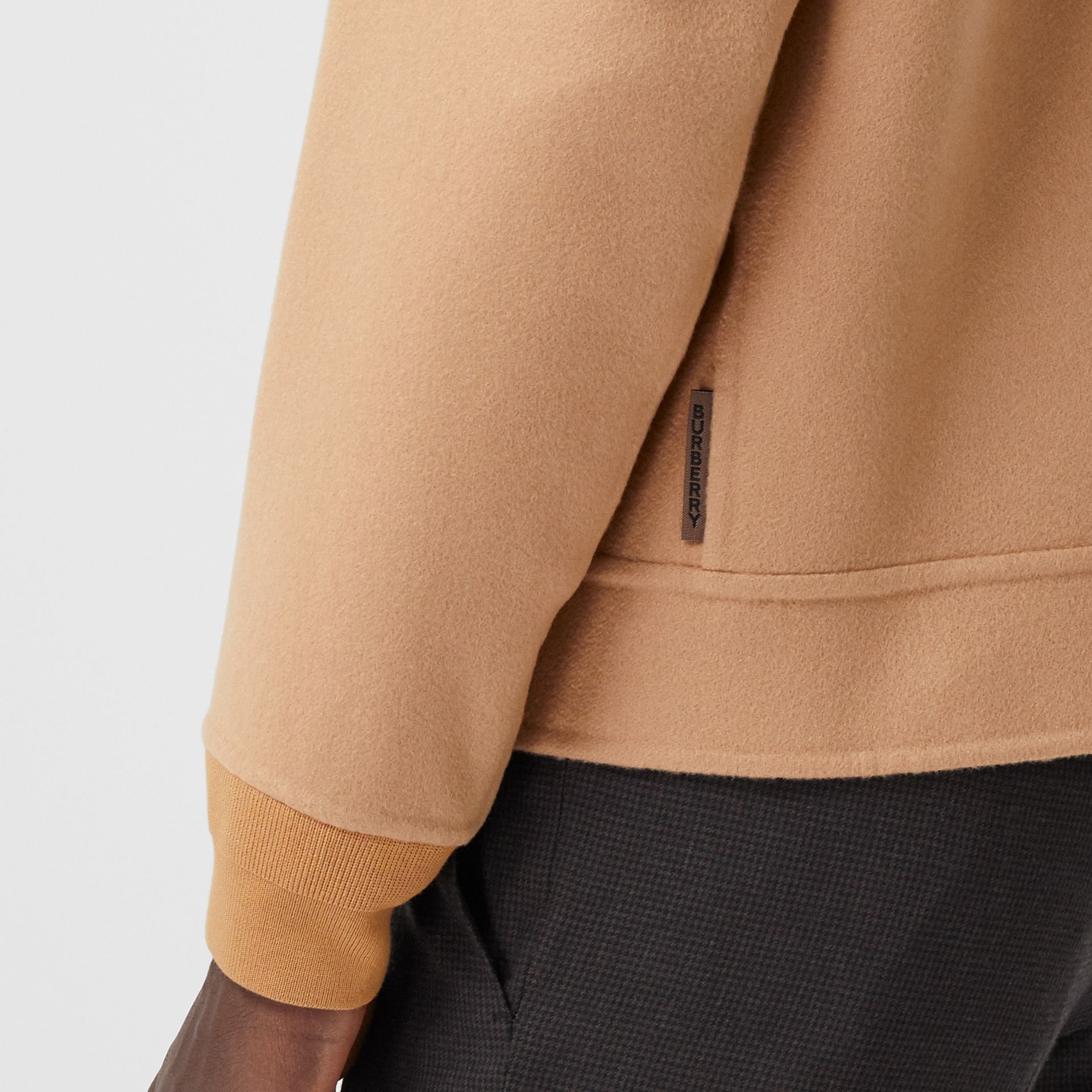 Double-faced Cashmere Bomber Jacket in Dark Camel - Men | Burberry - gallery image 4