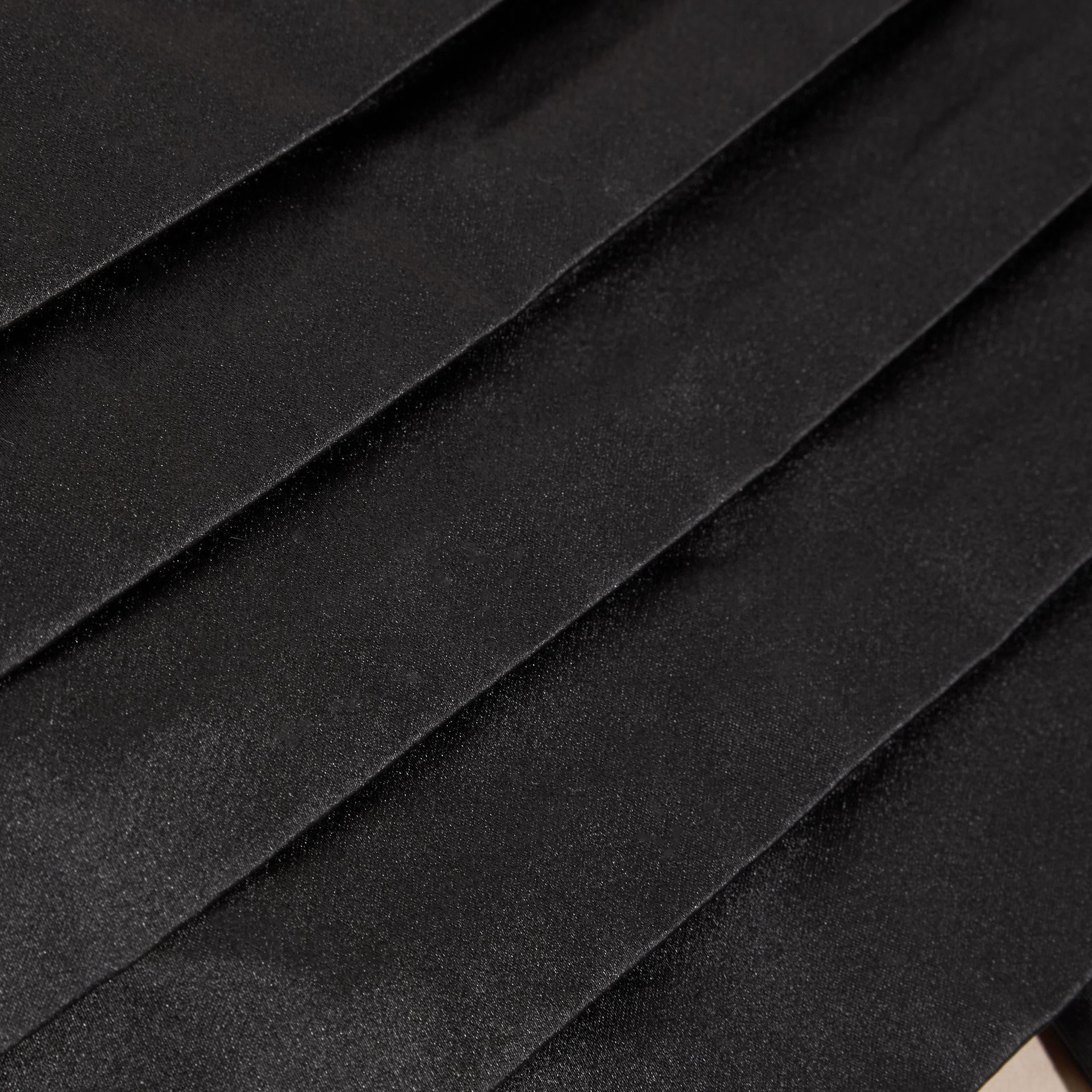 Black Pleated Silk Cummerbund Black - gallery image 2