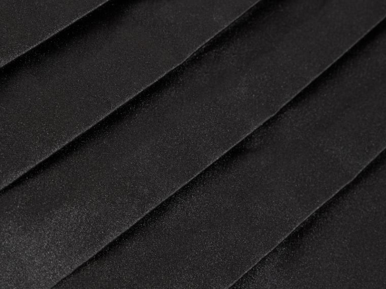 Pleated Silk Cummerbund in Black - cell image 1