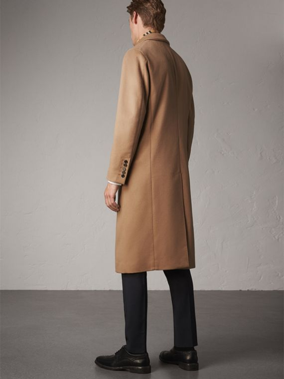 Double-breasted Extra Long Wool Cashmere Coat in Camel - Men | Burberry Singapore - cell image 2