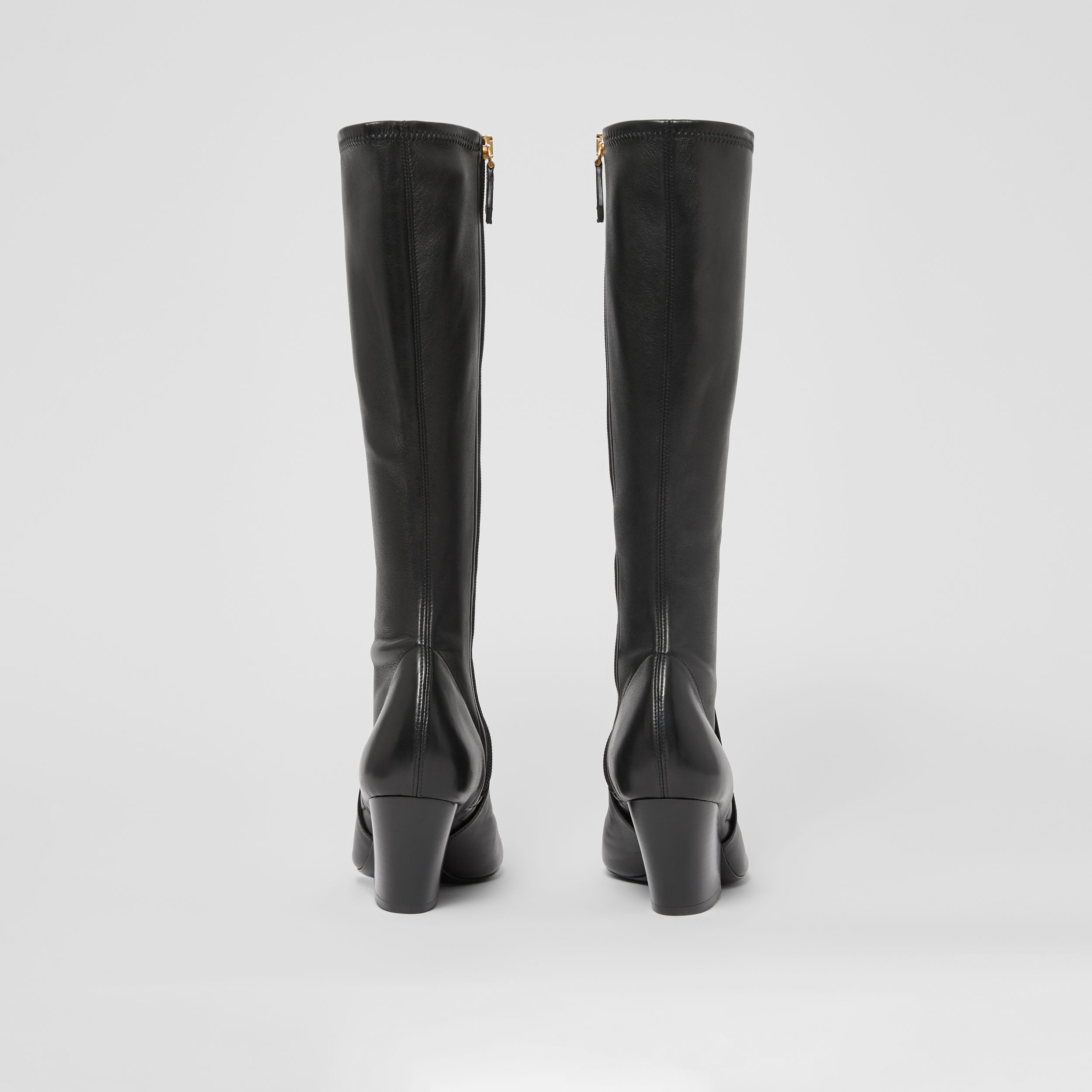 Panelled Lambskin Knee-high Boots in Black - Women | Burberry - 4