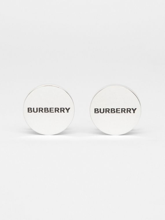 Engraved Silver-plated Cufflinks