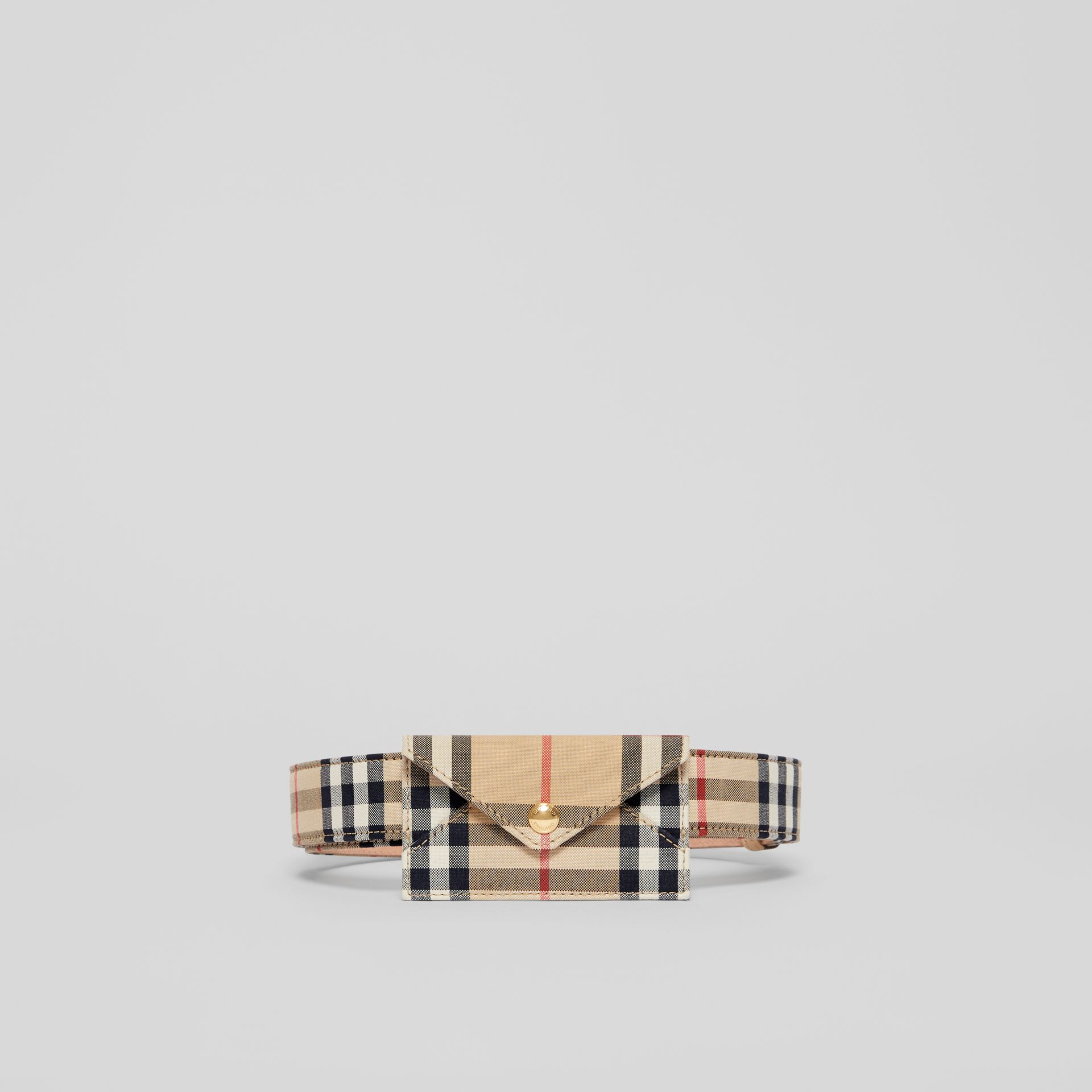 Envelope Detail Vintage Check Cotton Belt in Archive Beige - Women | Burberry - gallery image 3