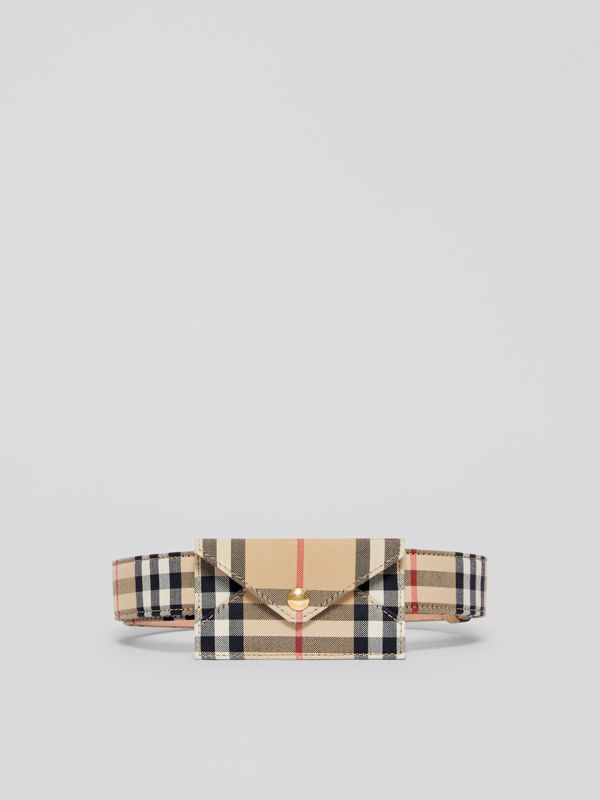 Envelope Detail Vintage Check Cotton Belt in Archive Beige - Women | Burberry - cell image 3