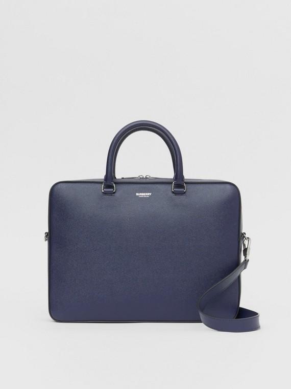 Aktentasche aus genarbtem Leder (Königsblau)