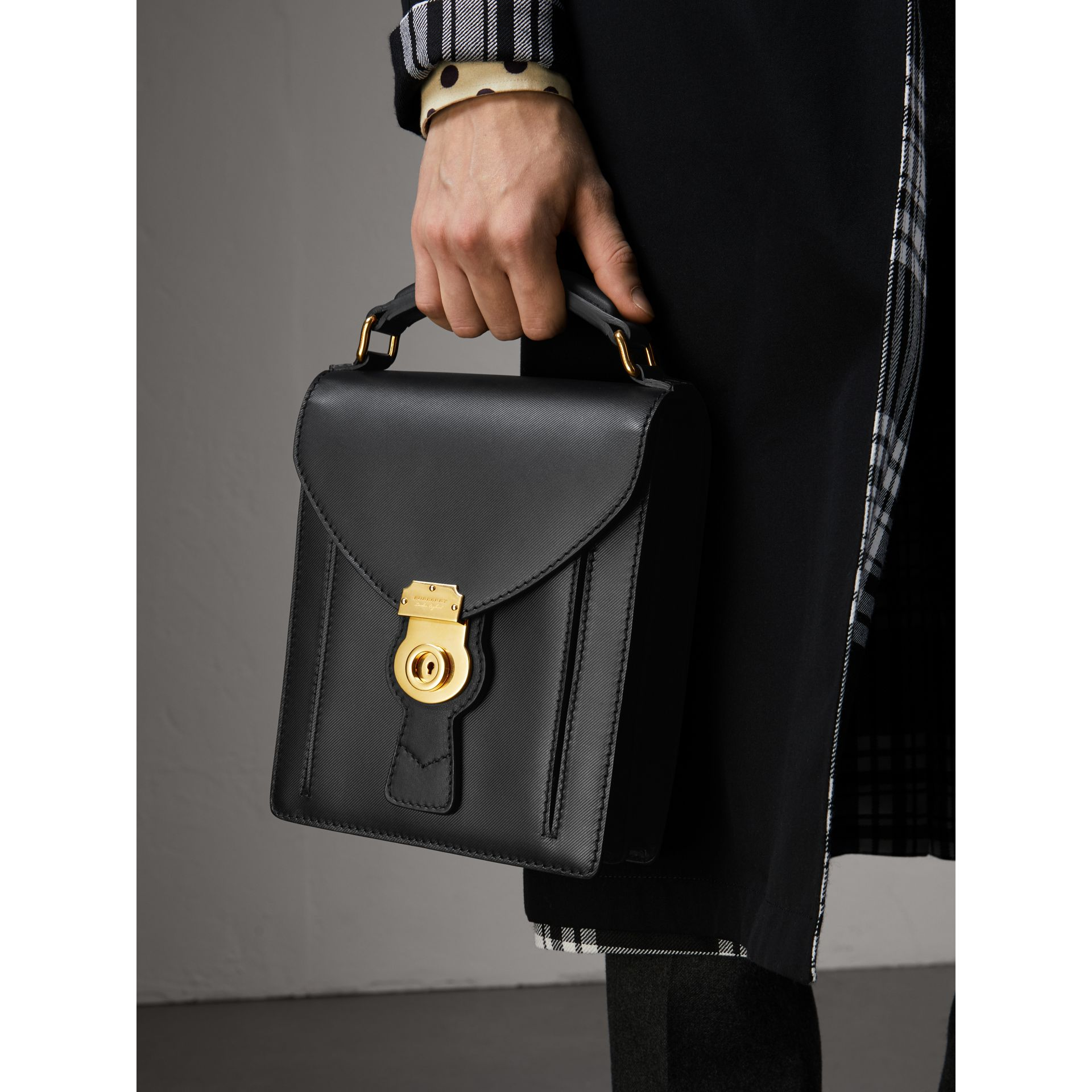 The Small DK88 Satchel in Black - Men | Burberry - gallery image 3