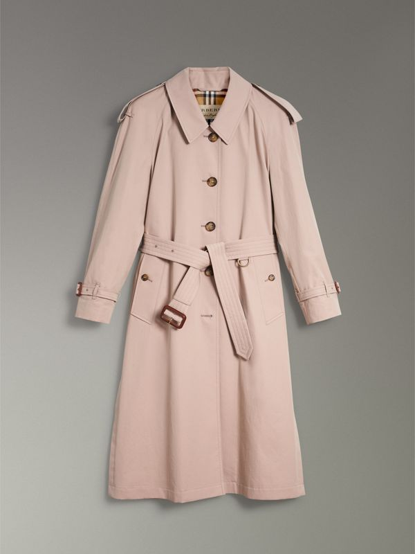 Side-slit Tropical Gabardine Trench Coat in Antique Taupe Pink - Women | Burberry United States - cell image 3