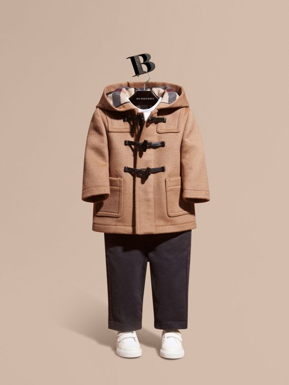 Duffle coat de lã New Camel