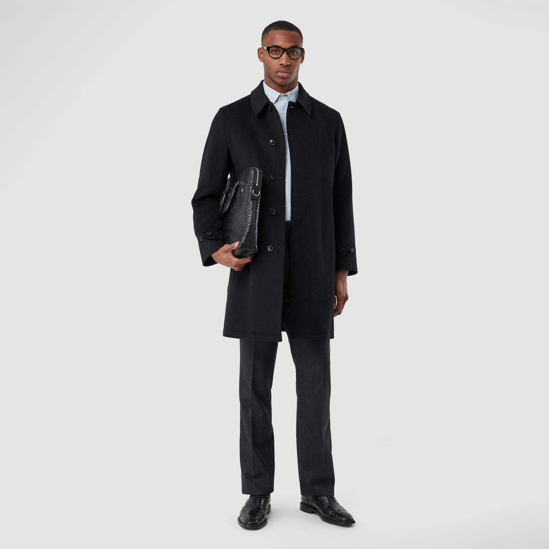 Cashmere Car Coat in Black - Men | Burberry - gallery image 0