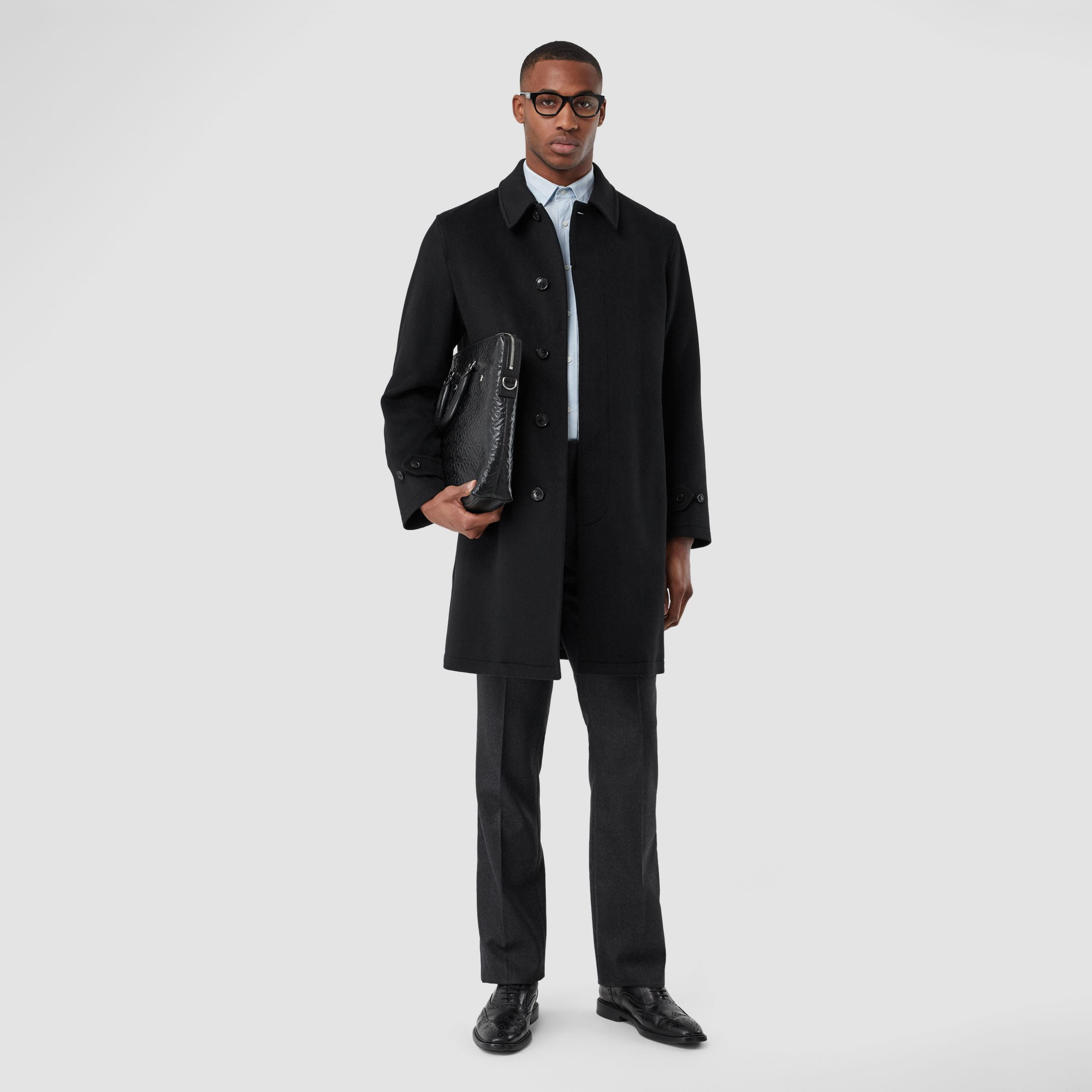 Cashmere Car Coat in Black - Men | Burberry - 1
