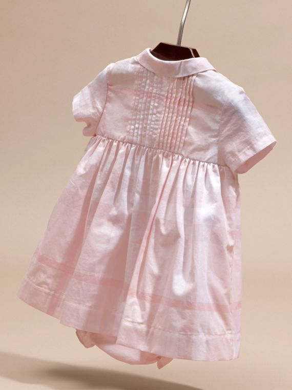 Ice pink Check Cotton Pin Pleat Dress and Bloomers - cell image 3