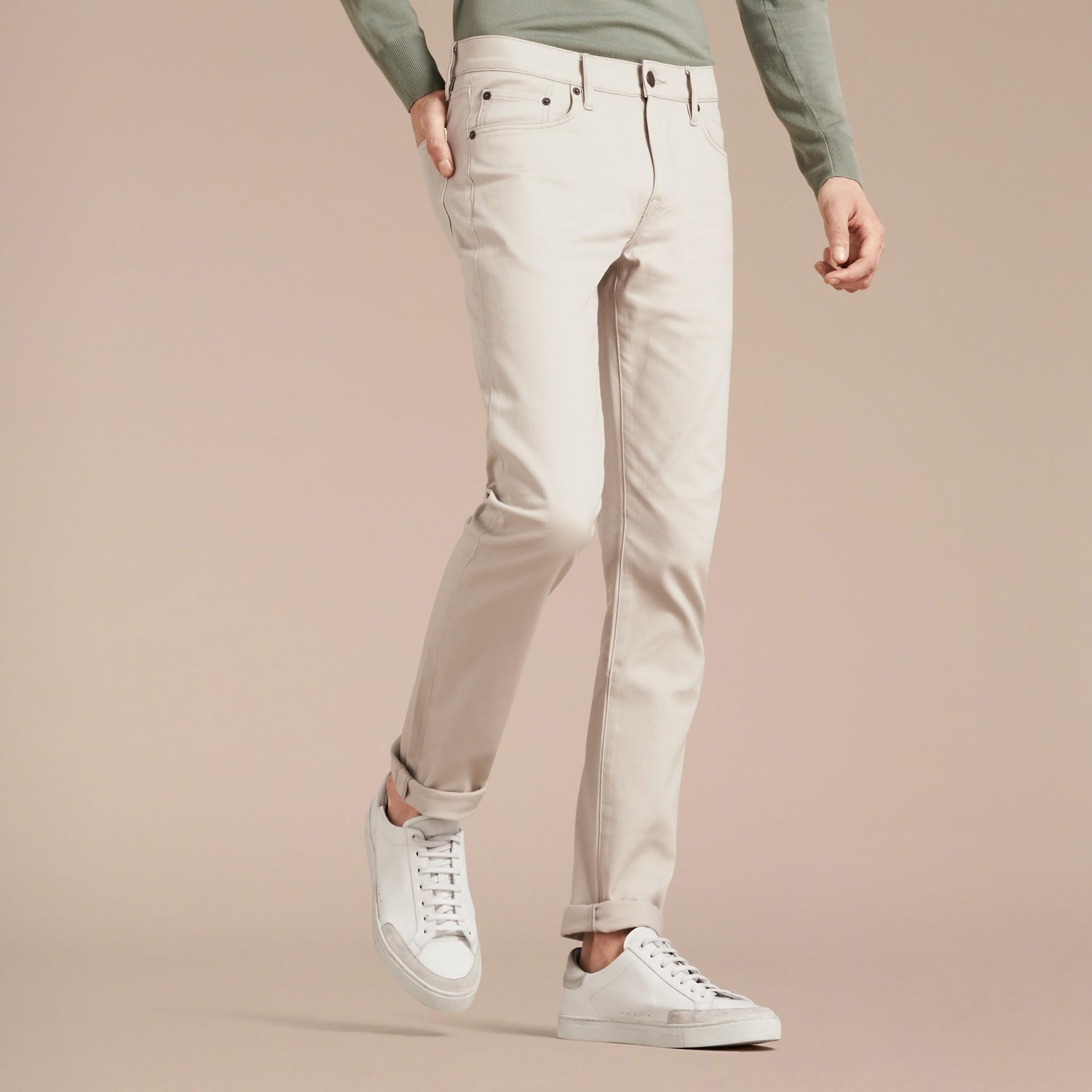 Pietra pallido Jeans aderenti in denim stretch giapponese Pietra Pallido - immagine della galleria 5