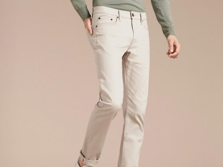 Pietra pallido Jeans aderenti in denim stretch giapponese Pietra Pallido - cell image 4