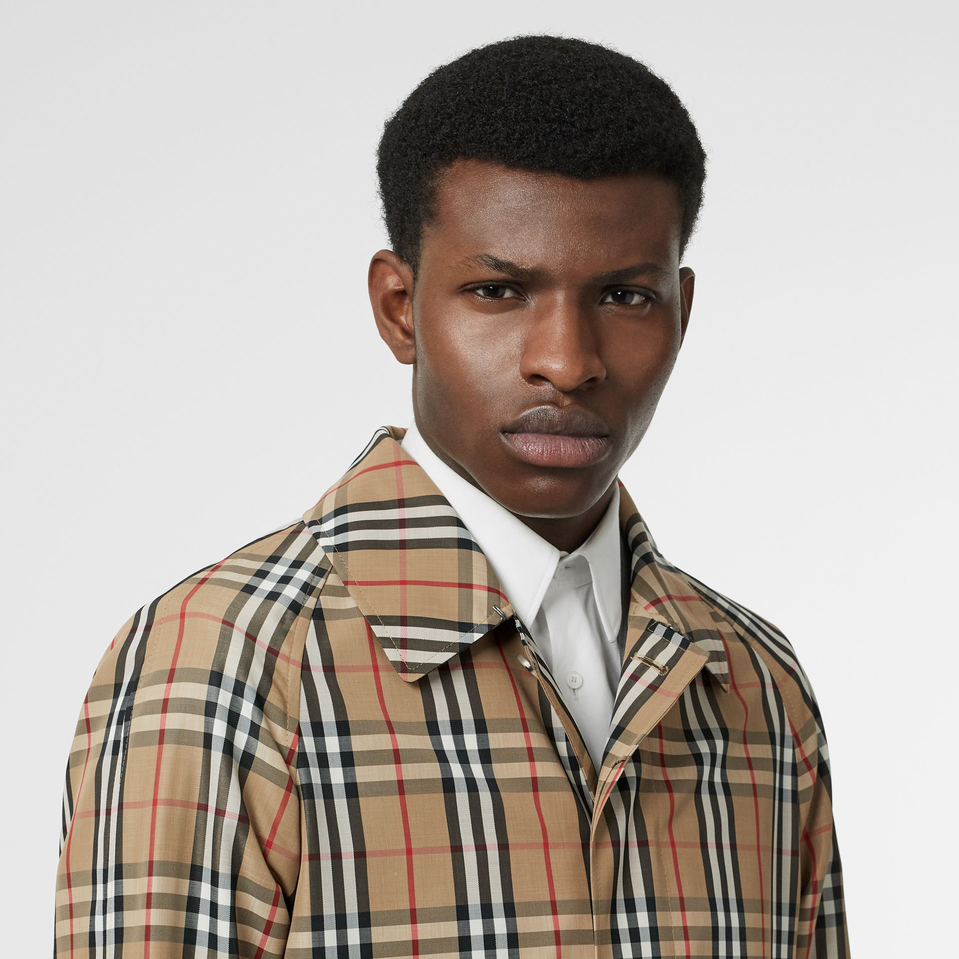 Vintage Check Car Coat in Archive Beige - Men | Burberry Australia - gallery image 7