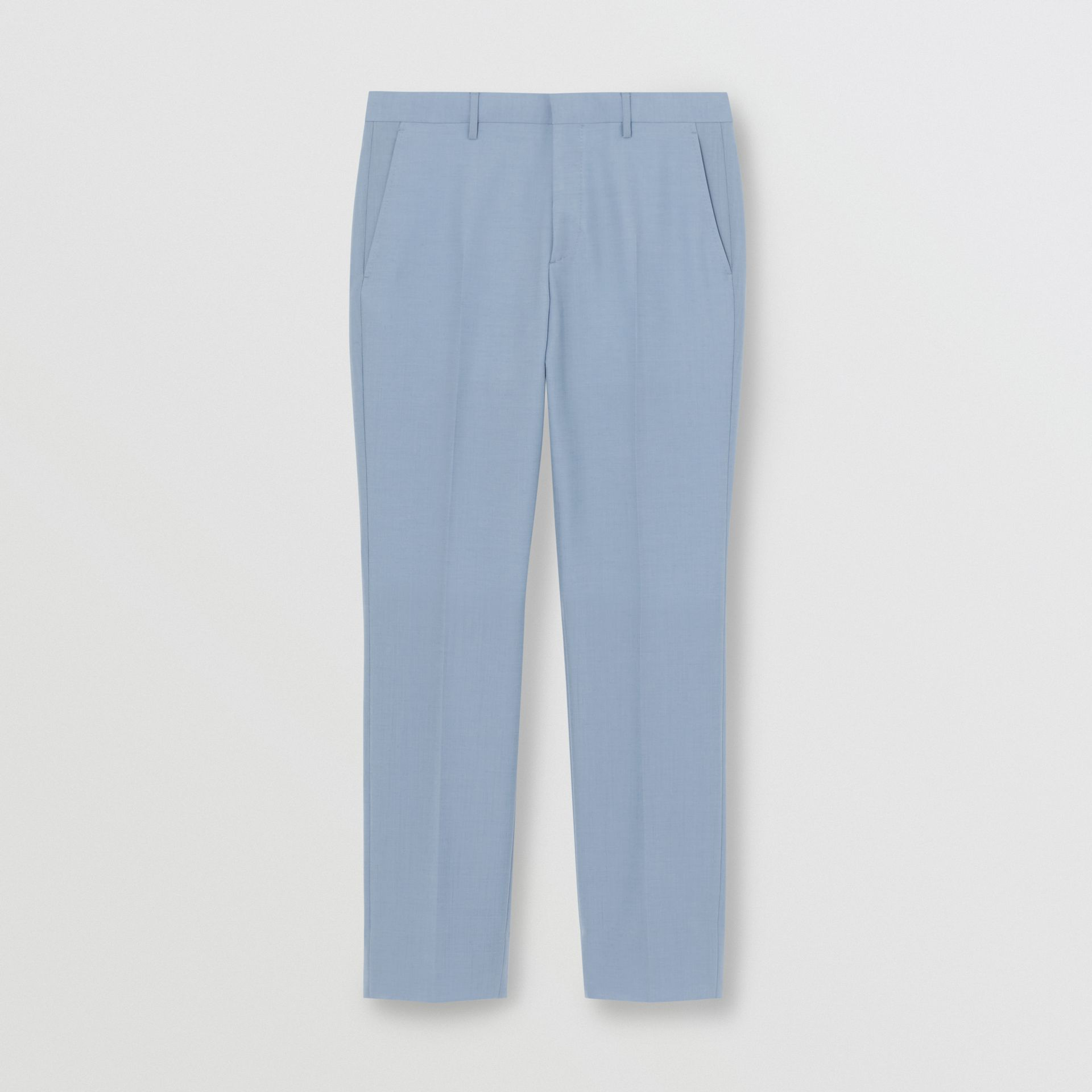 Classic Fit Wool Tailored Trousers in Pale Blue - Men | Burberry Singapore - gallery image 3