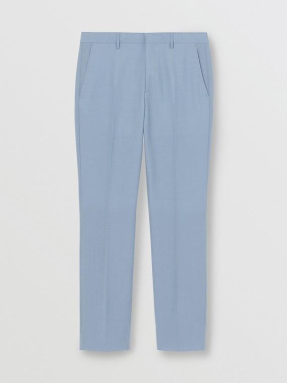 Классические брюки из шерстяной ткани (Бледно-голубой)
