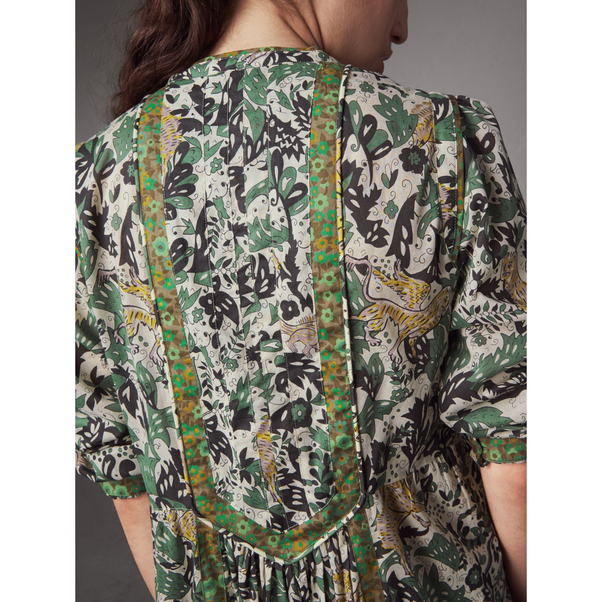 Beasts Print Cotton Day Dress - Women | Burberry - gallery image 2