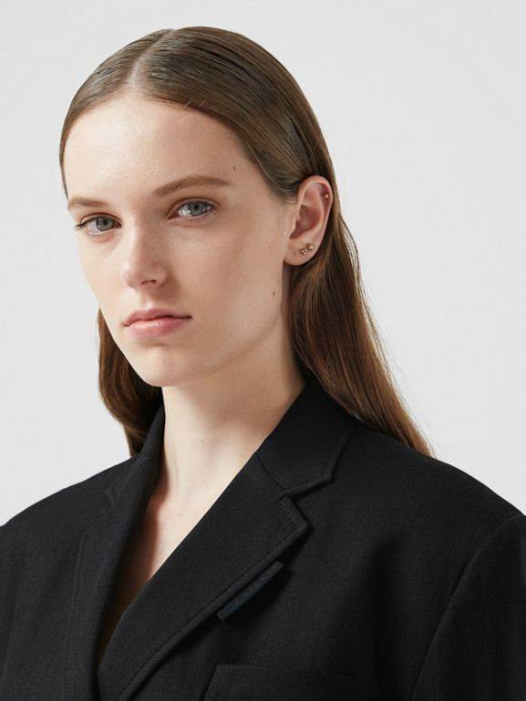 Technical Twill Reconstructed Blazer in Black - Women | Burberry Australia - cell image 1