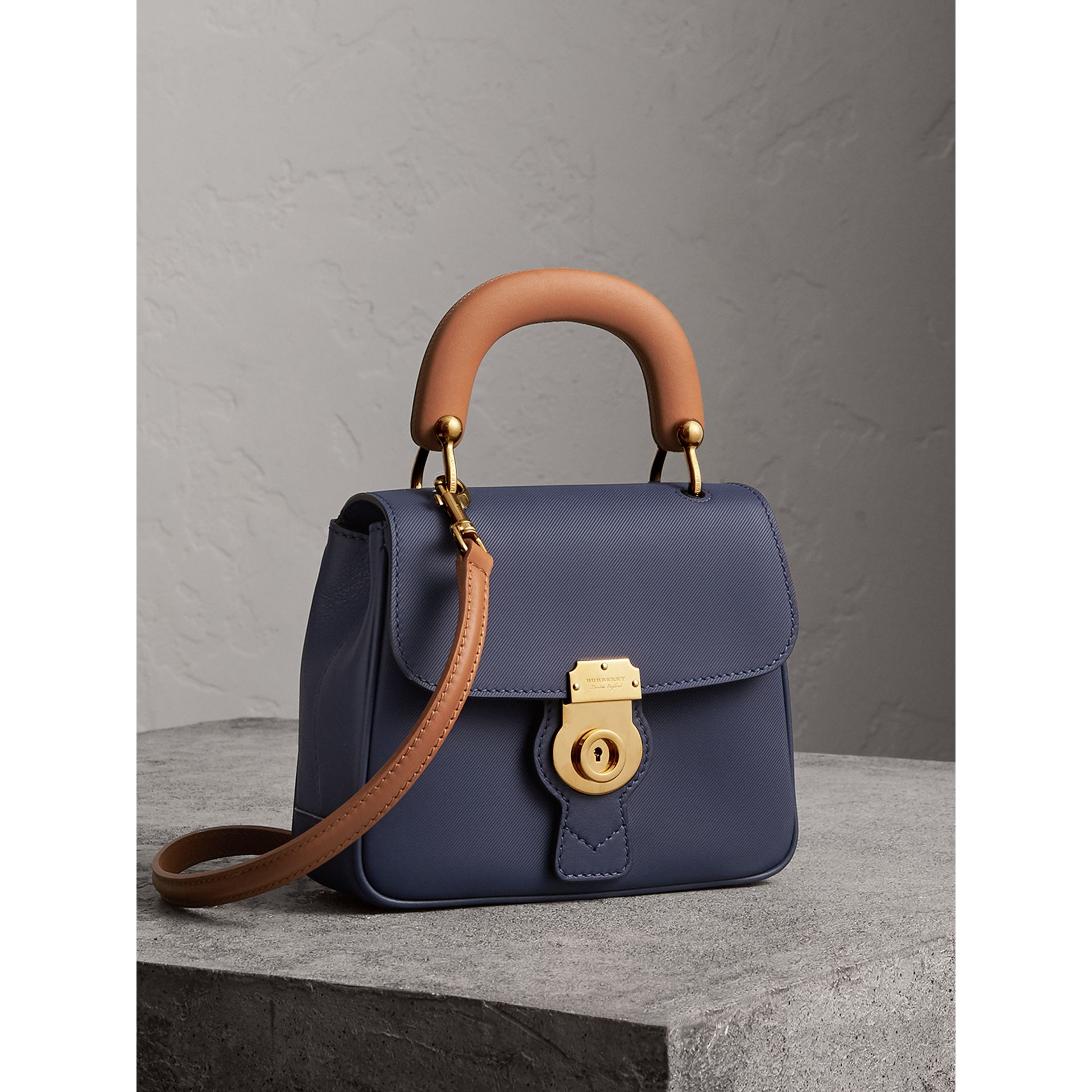 The Small DK88 Top Handle Bag in Ink Blue - Women | Burberry United Kingdom - gallery image 7