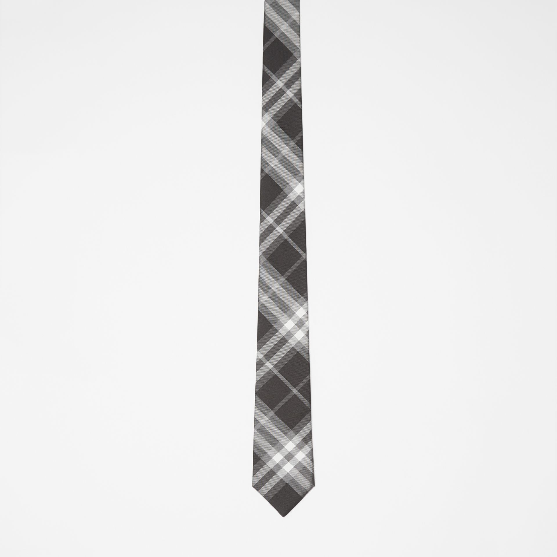 Modern Cut Vintage Check Silk Tie in Black - Men | Burberry Singapore - gallery image 3