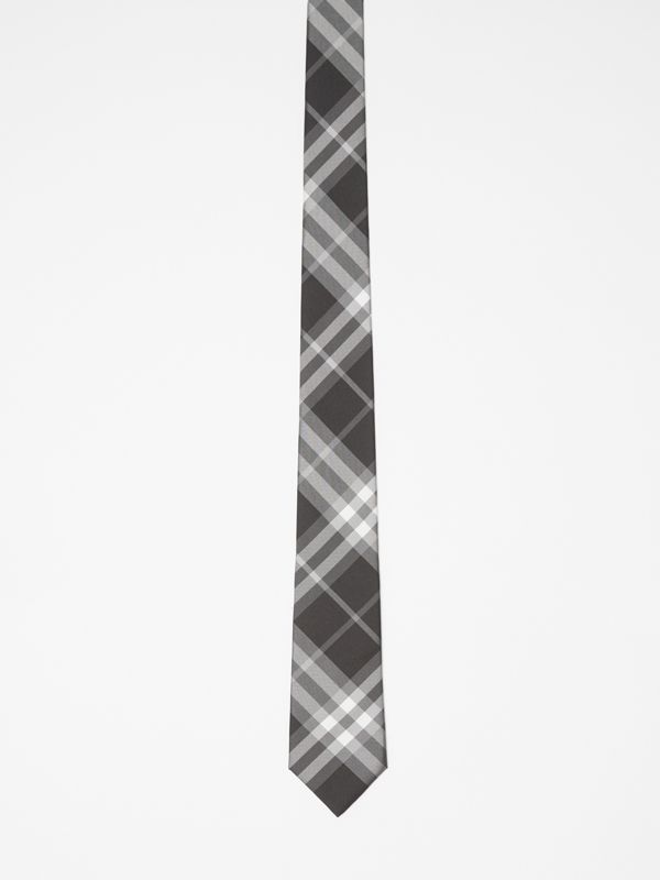 Modern Cut Vintage Check Silk Tie in Black - Men | Burberry Singapore - cell image 3