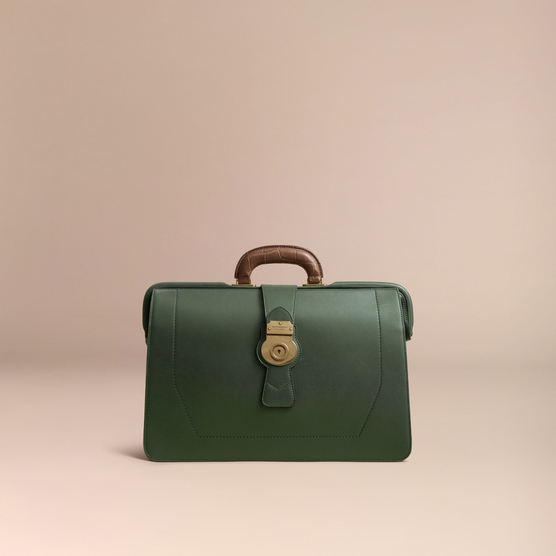 The DK88 Doctor's Bag with Alligator in Dark Forest Green - Men | Burberry United Kingdom - gallery image 6