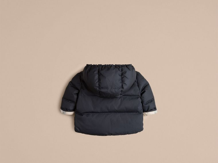 Navy Check-Lined Puffer Jacket Navy - cell image 2