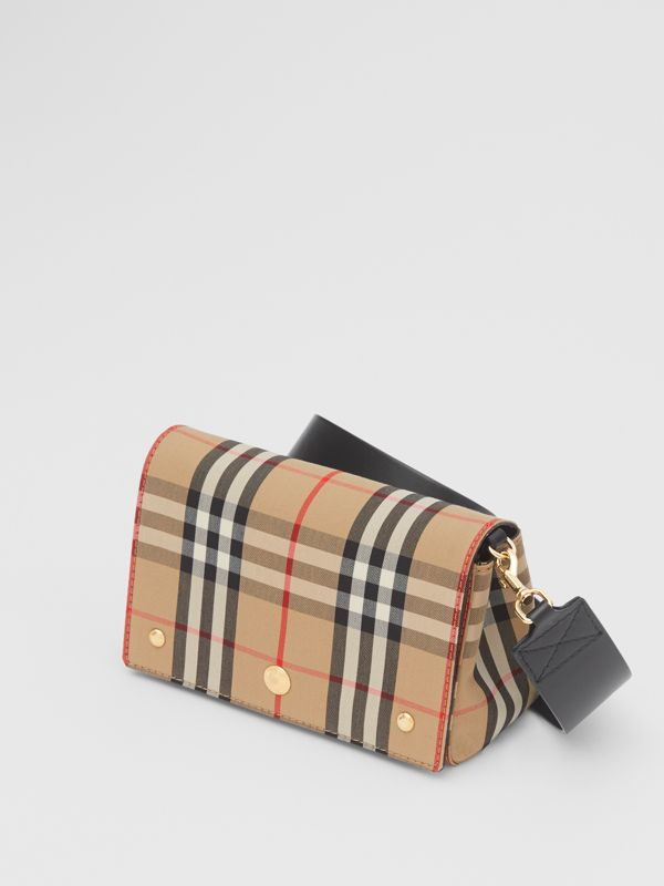 Small Vintage Check and Leather Crossbody Bag in Archive Beige - Women | Burberry - cell image 3