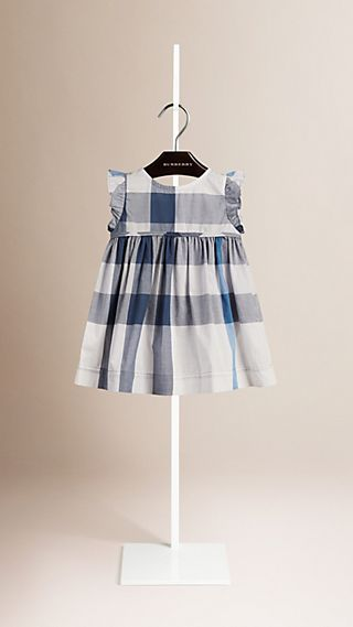 Flutter Sleeve Check Dress