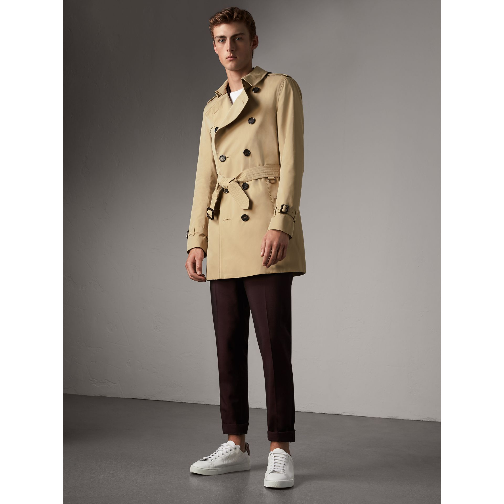 The Sandringham – Mid-length Heritage Trench Coat in Honey - Men | Burberry Canada - gallery image 6