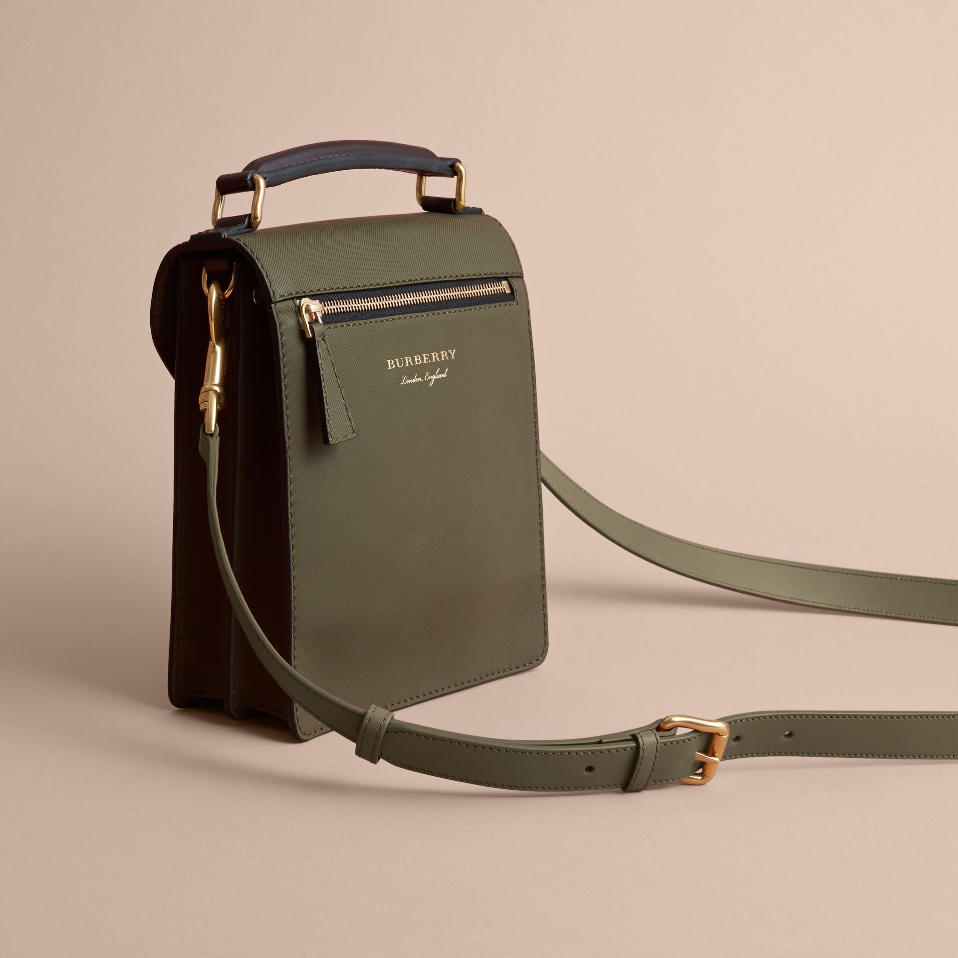 The Small DK88 Satchel in Moss Green - Men | Burberry United Kingdom - gallery image 4