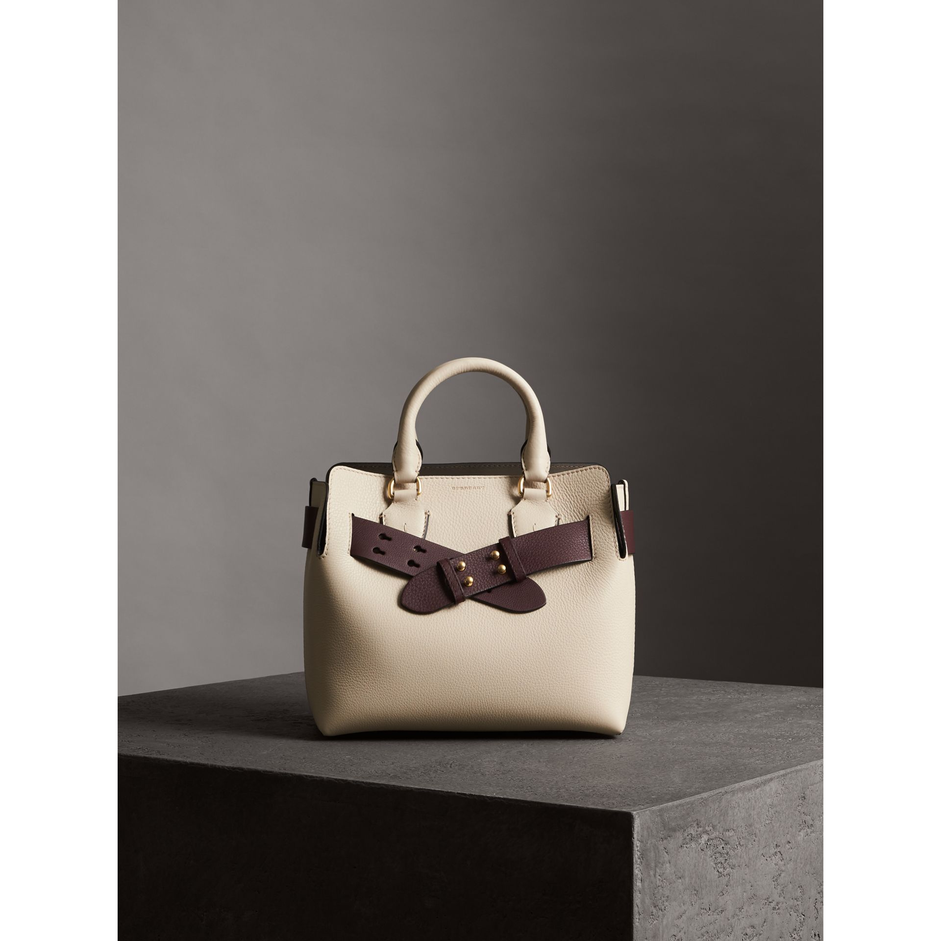 The Small Belt Bag Grainy Leather Belt in Deep Claret - Women | Burberry United Kingdom - gallery image 4