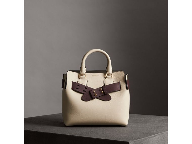 The Small Belt Bag Grainy Leather Belt in Deep Claret - Women | Burberry United States - cell image 4