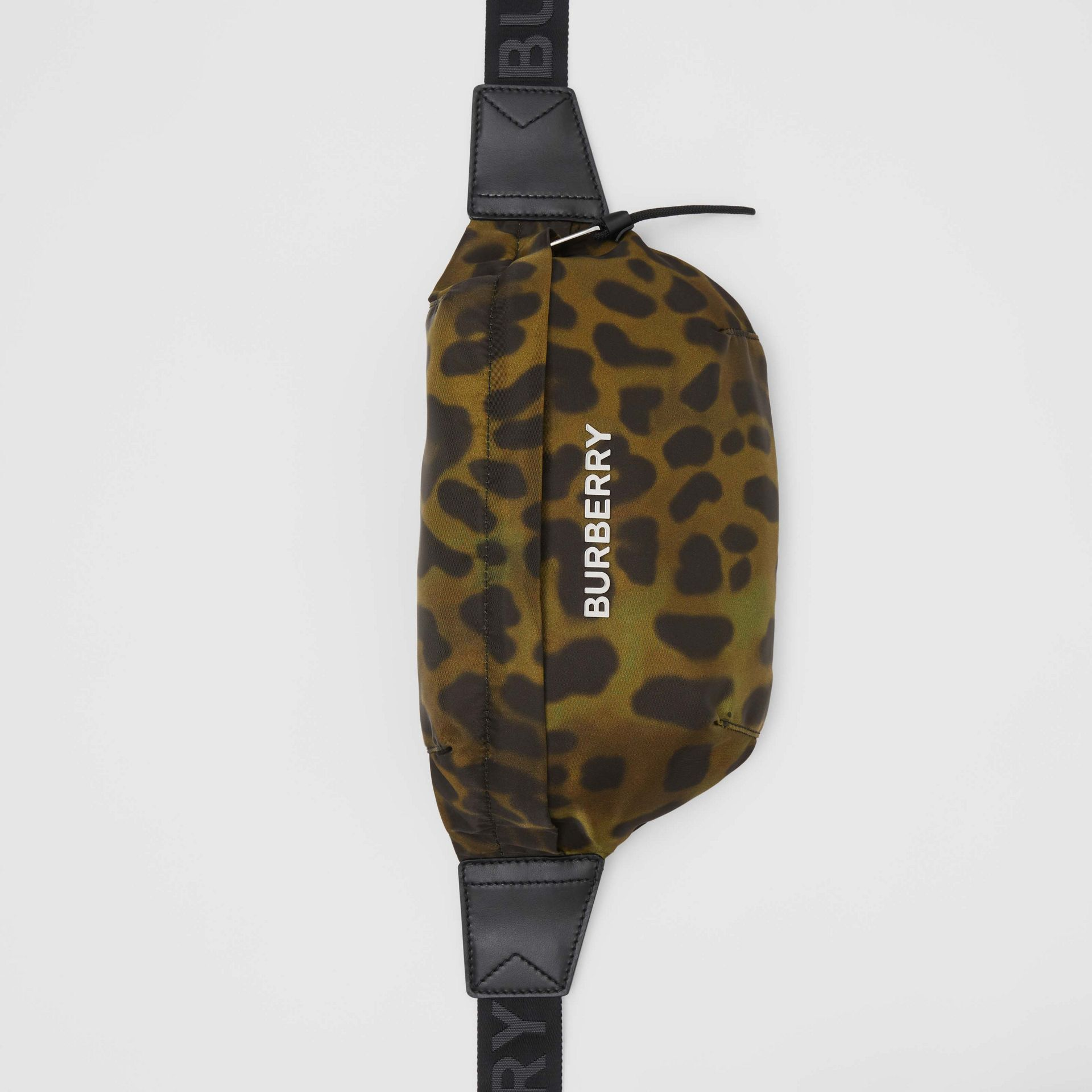 Medium Animal Print Bum Bag in Khaki Green - Men | Burberry - gallery image 4