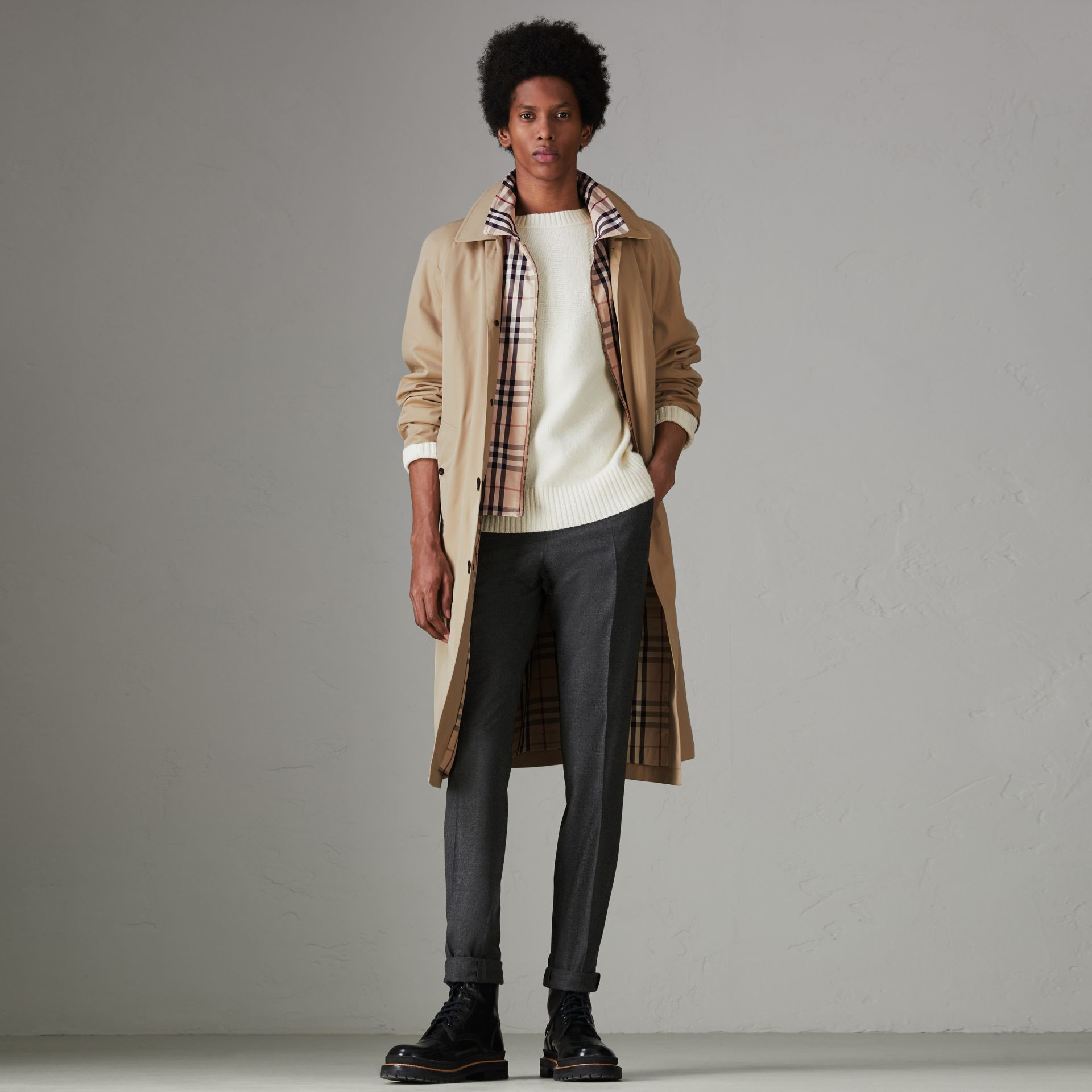 Gosha x Burberry Reconstructed Car Coat in Honey - Men | Burberry United Kingdom - gallery image 8