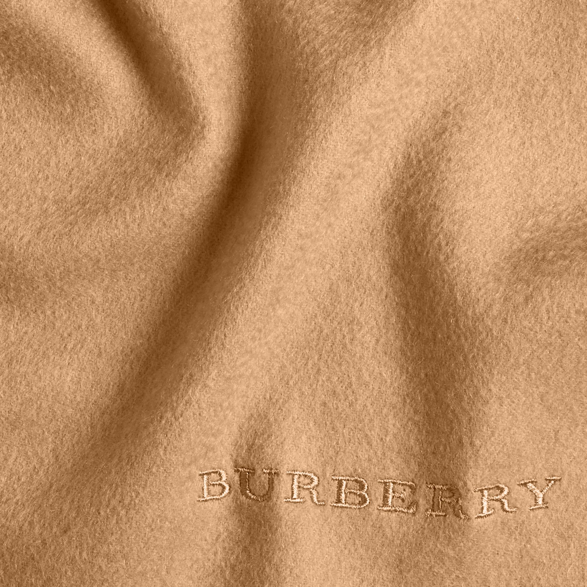 The Classic Cashmere Scarf in Camel - gallery image 5
