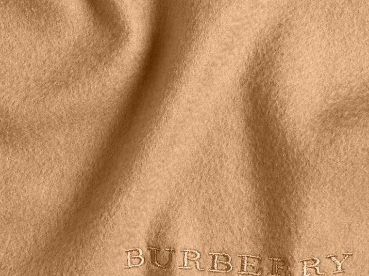 The Classic Cashmere Scarf in Camel | Burberry Australia - cell image 4