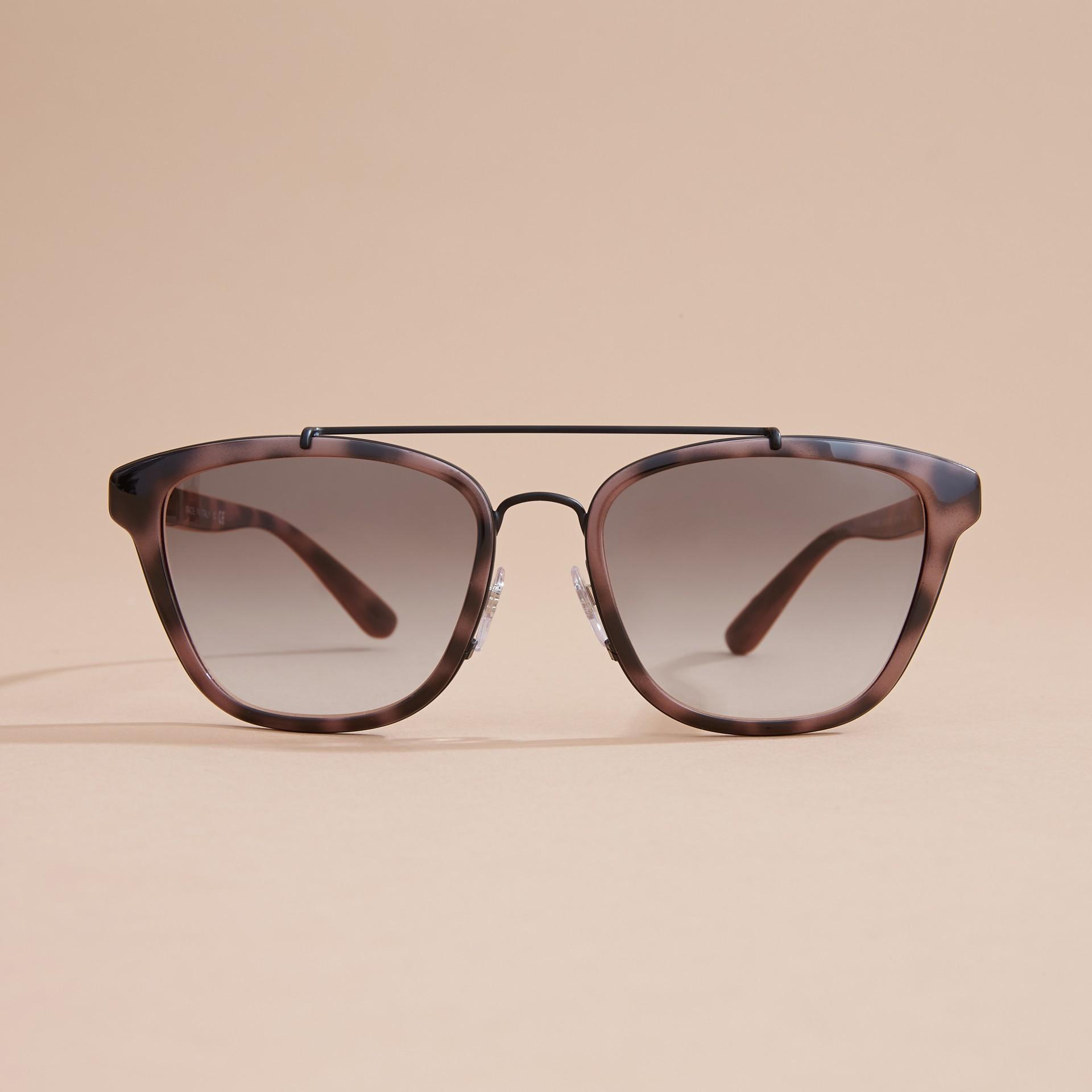 Top Bar Square Frame Sunglasses Tortoiseshell - gallery image 3