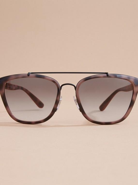 Top Bar Square Frame Sunglasses Tortoiseshell - cell image 2