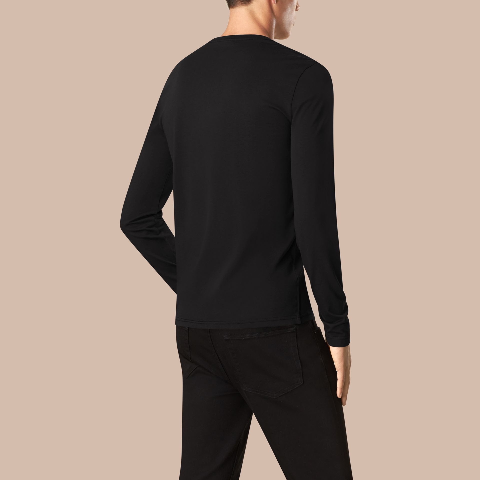 Black Liquid-soft Cotton Top Black - gallery image 2